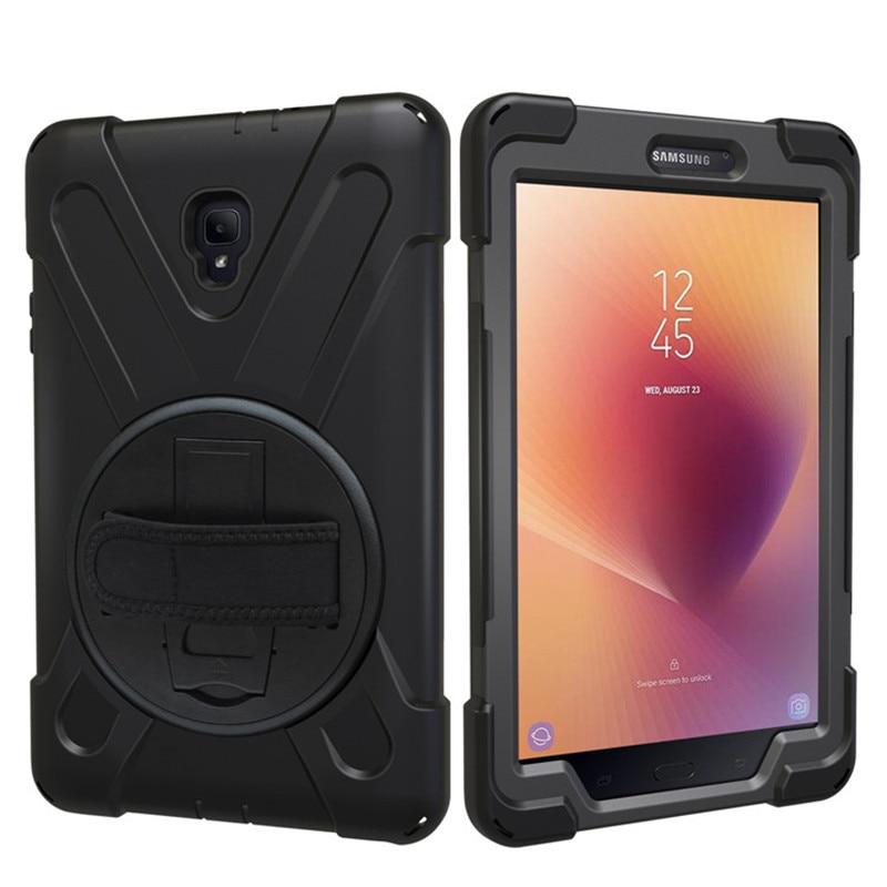 Hmsunrise para SM-T380 caso para Samsung Galaxy Tab A 8,0 caso T380 T385 2017 niños silicón resistente A prueba de choques cubierta dura
