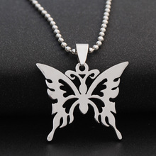 stainless steel hollow butterfly charm necklace animal insect bee effect pendant