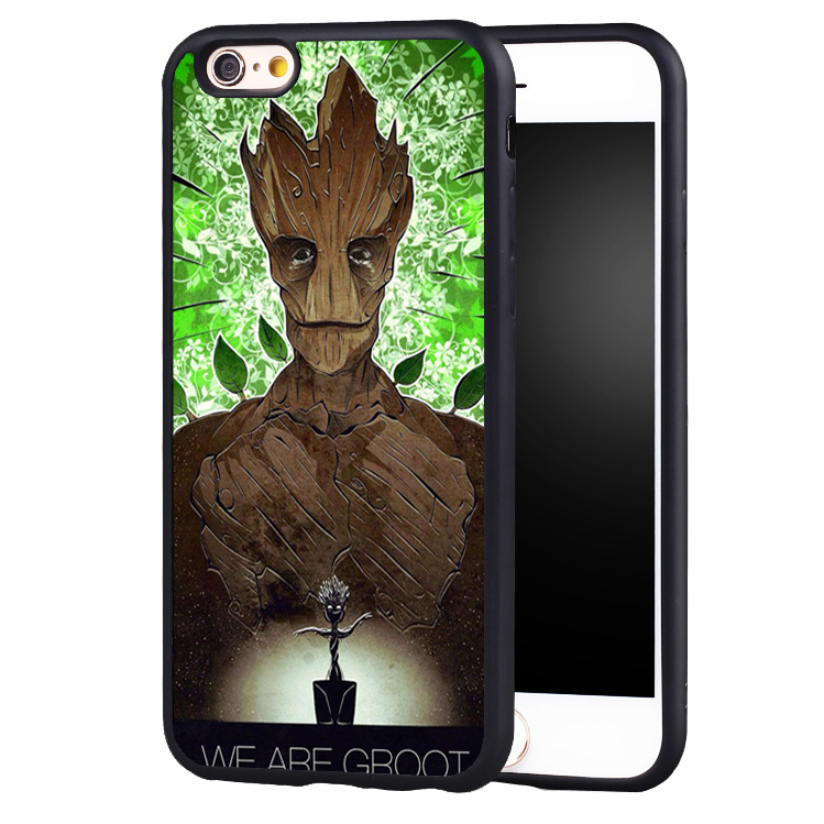 Pop Groot Tree man Guardians of the Galaxys soft edge hard back Printed case cover For iPhone SE 5S 5C 7 7PLUS