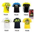 2016 Luna Rossi VR46 FORTYSIX The Doctor T-shirt Moto GP Sport Sky Racing Team Life Style VR 46 Sports M1 Summer T shirt