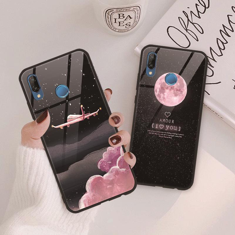 Tempered <font><b>Glass</b></font> <font><b>Case</b></font> For <font><b>Huawei</b></font> P Smart 2019 P40 P30 P20 Lite Pro P9 <font><b>P10</b></font> Plus Luxury <font><b>Glass</b></font> <font><b>Case</b></font> For <font><b>Huawei</b></font> Mate 20 10 Lite Pro image