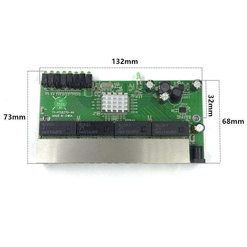 Image 2 - 8 коммутатор модуль широко используется в светодиодный линии 8 портов 10/100/1000 м контактный порт мини коммутатор модуль PCBA материнская плата-in Сетевые коммутаторы from Компьютер и офис