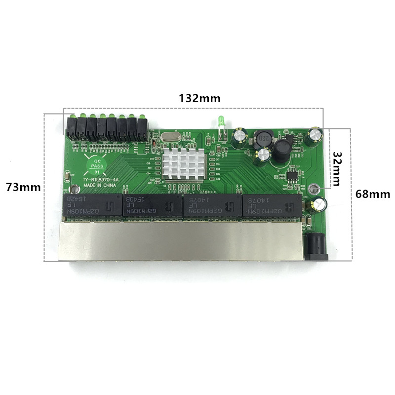 Image 2 - 8 port Gigabit switch module is widely used in LED line 8 port 10/100/1000 m contact port mini switch module PCBA Motherboard-in Network Switches from Computer & Office