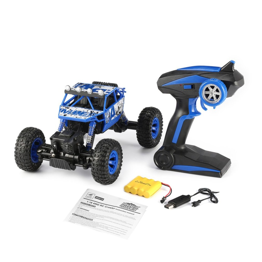 ZEGAN 1801 2.4GHz 1/18 Scale 4WD RC Rock Crawler Double Motors RC Climbing Car Buggy Bigfoot Off-Road Vehicle Toys