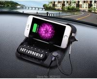 Multi-funcional de Navegación Del Coche Del Teléfono Móvil Antideslizante Mat Cargador USB para Hyundai elantra ix35 i30 acento solaris ix25 tucson