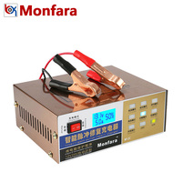 MONFARA 12V 24V Auto Automotive Motorrad Batterie Ladegerät Intelligente Puls Reparatur Led anzeige Für Auto Lkw Blei Säure batterie auf
