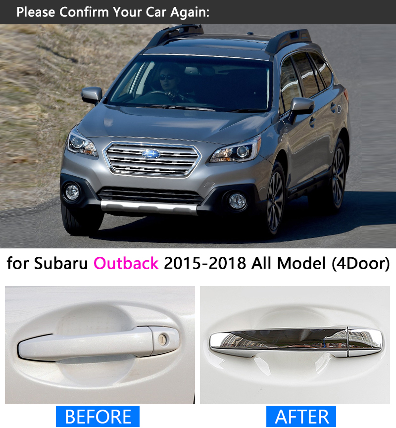 For Subaru Outback Luxurious Chrome Door Handle Cover Trim Set Legacy 2017 2016 2018 Accessories Stickers Car Styling In From Automobiles