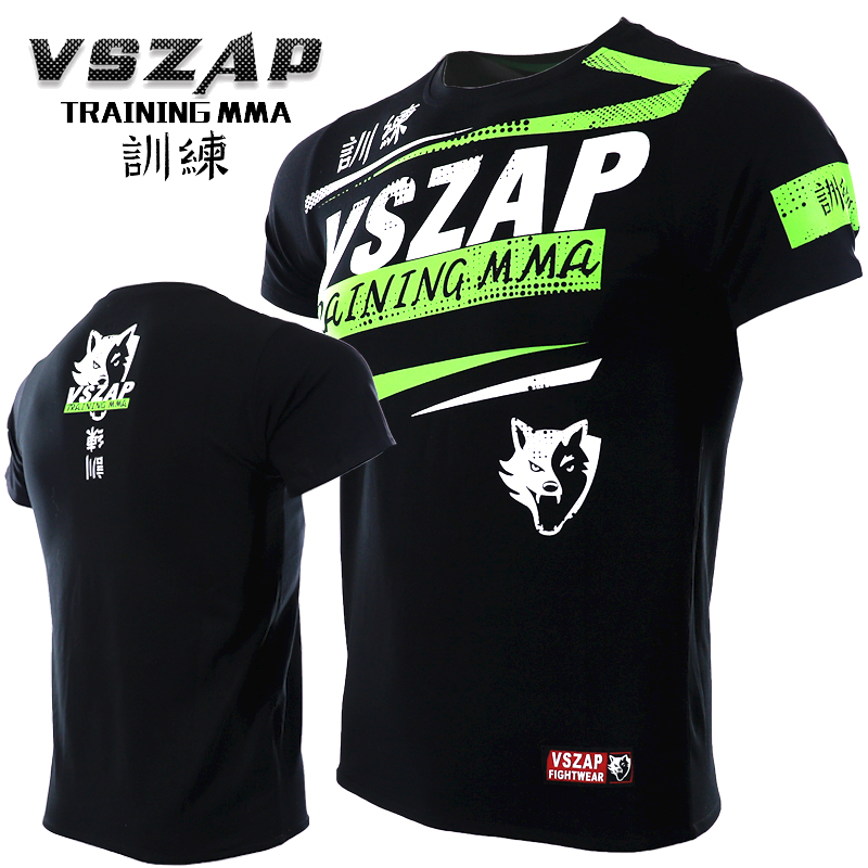 VSZAP MMA Clothing  Shirt Gym Rashguard Fitness T Shirt Men Base Layer Skin Tight Weight Lifting Muay Thai Tee Shirt
