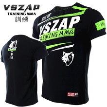 b076abf5b VSZAP Camisa Roupas Ginásio MMA Rashguard Aptidão T Shirt Homens Muay Thai  Camiseta de Levantamento de Peso Da Pele Camada de Ba.