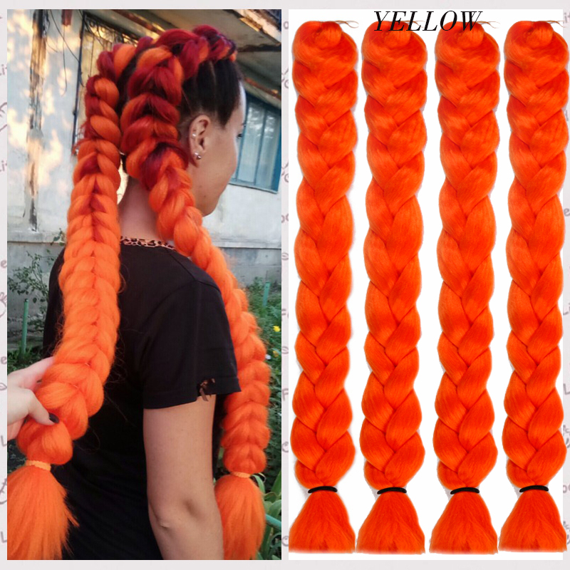 LISI HAIR Synthetic Crochet Braids Kanekalon In Jumbo Braiding Hair One Piece 82 Inch 165gpcs Pure Color In Hair Extensions  (5)