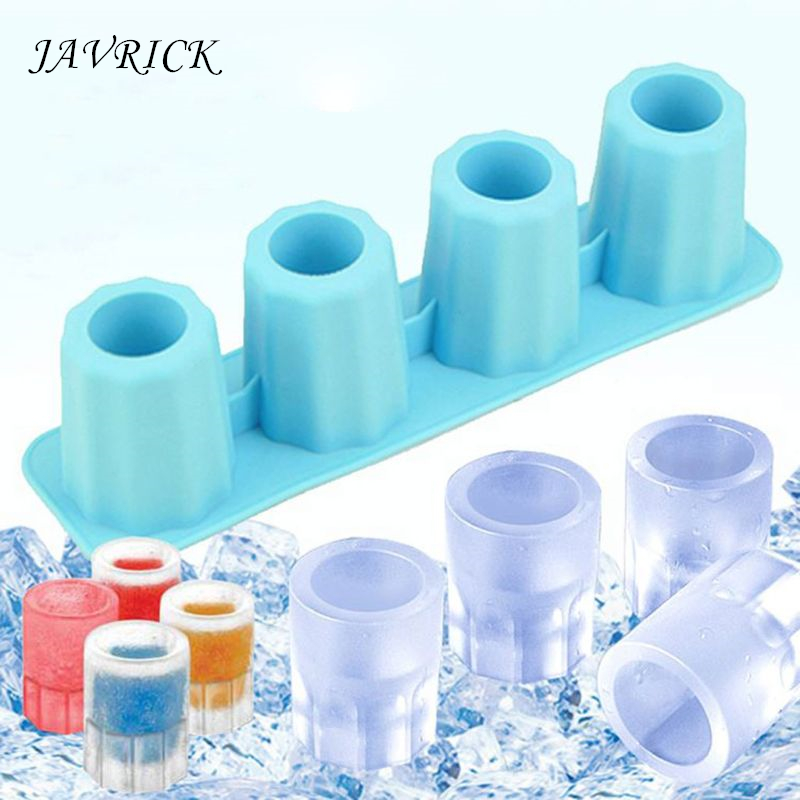 4 Cups Square Ice Cube Tray Cake Cup Mold Silicone Ice Shot Mould DIY Resin Mold