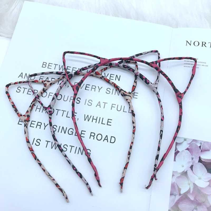 สาวผม Hoop Hairbands Headband เซ็กซี่สีดำ lady leopard พิมพ์แมวหูผมวงอุปกรณ์เสริมสำหรับผู้หญิงวันเกิด Headwear