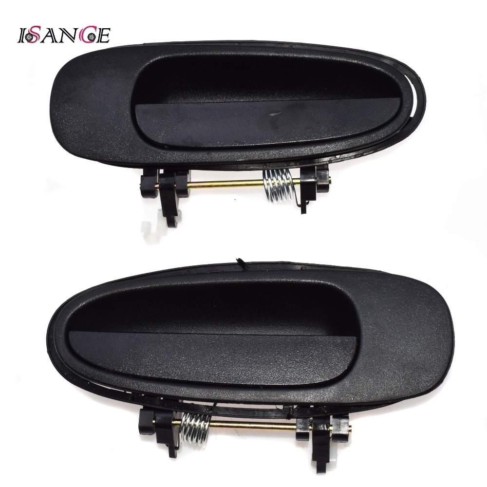 hight resolution of outside exterior door handle rear left right pair black for geo prizm toyota corolla 1993 1994 1995 69230 12140 69240 12140