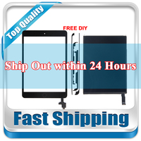 New For iPad Mini 2 A1489 A1490 A1491 Replacement LCD Display + Touch Screen Digitizer + Home Button+IC CHIP Black White