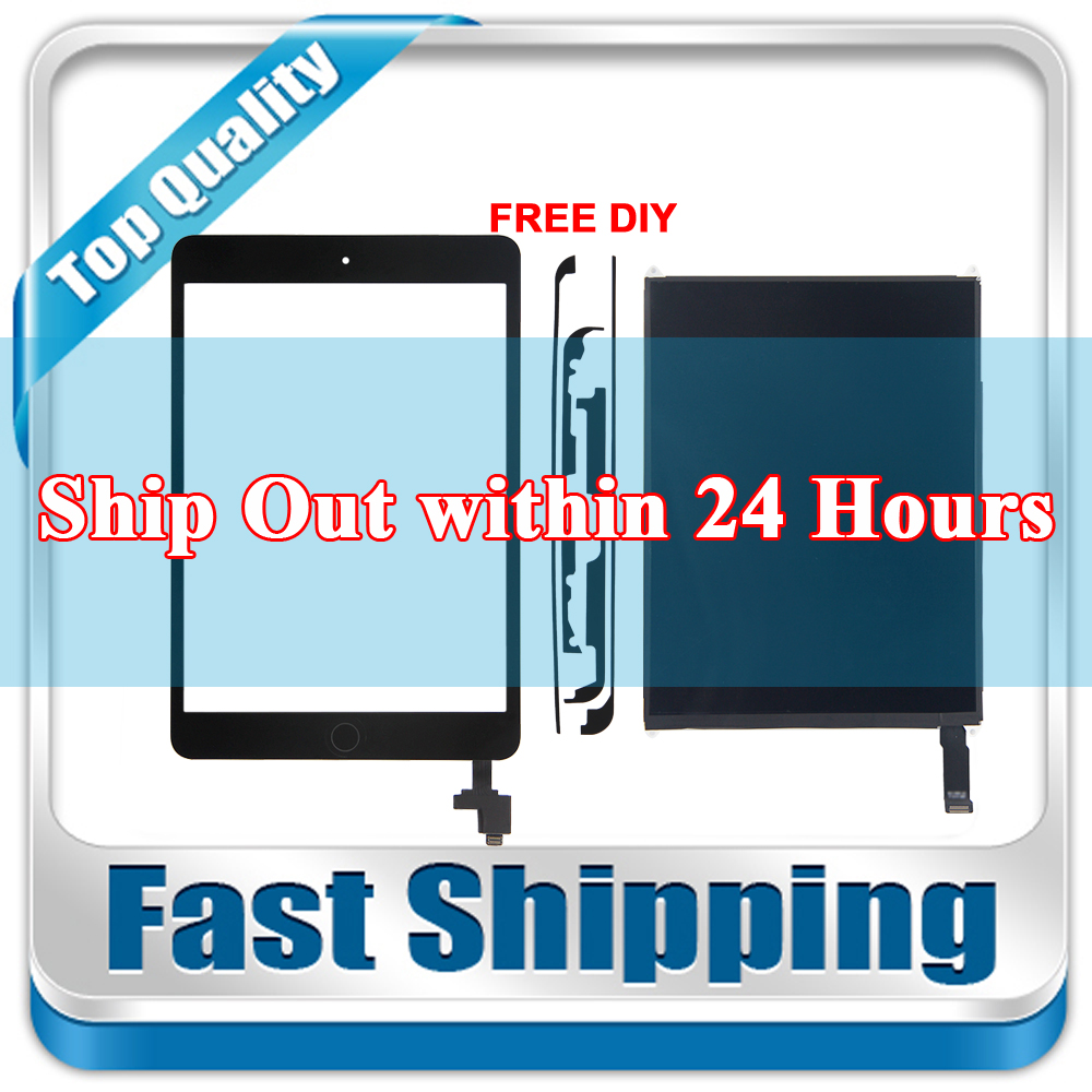 New For iPad Mini 2 A1489 A1490 A1491 Replacement LCD Display + Touch Screen Digitizer + Home Button+IC CHIP Black White цена