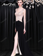 Floor-Length Full manual Gauzy Sexy Star full dress Evening dress Cocktail dress Night entertainment venue dress LF0085