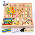 Multi-functional Mathematics Counting Number Study Box/Baby Children Educational Wooden Toys Birthday Gift Childhood/Adulthood