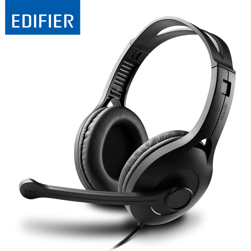 EDIFIER K800 Adjustable Headset Earphone Detachable Earbuds Headphone with Microphone for Cellphone,Computer