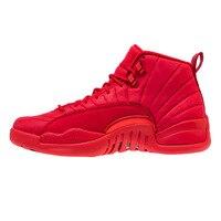 Jordan Retro 12 Gym red Basketball shoes Bulls Flu game University blue College ovo white Dark Grey men Sport Sneakers