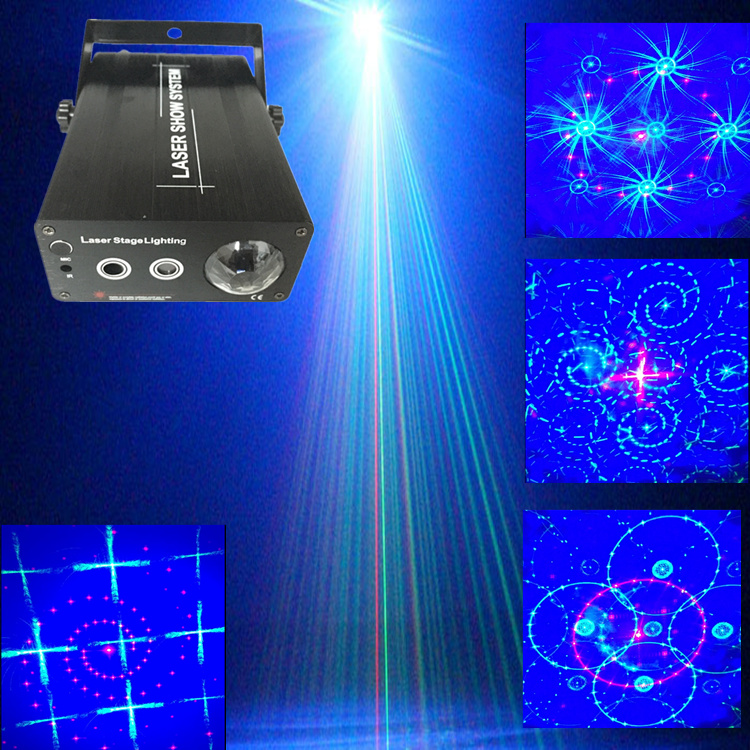 24 gobos  300mw RG laser projector  blue led water effect ripple stage light for ktv wedding home party event rg mini 3 lens 24 patterns led laser projector stage lighting effect 3w blue for dj disco party club laser