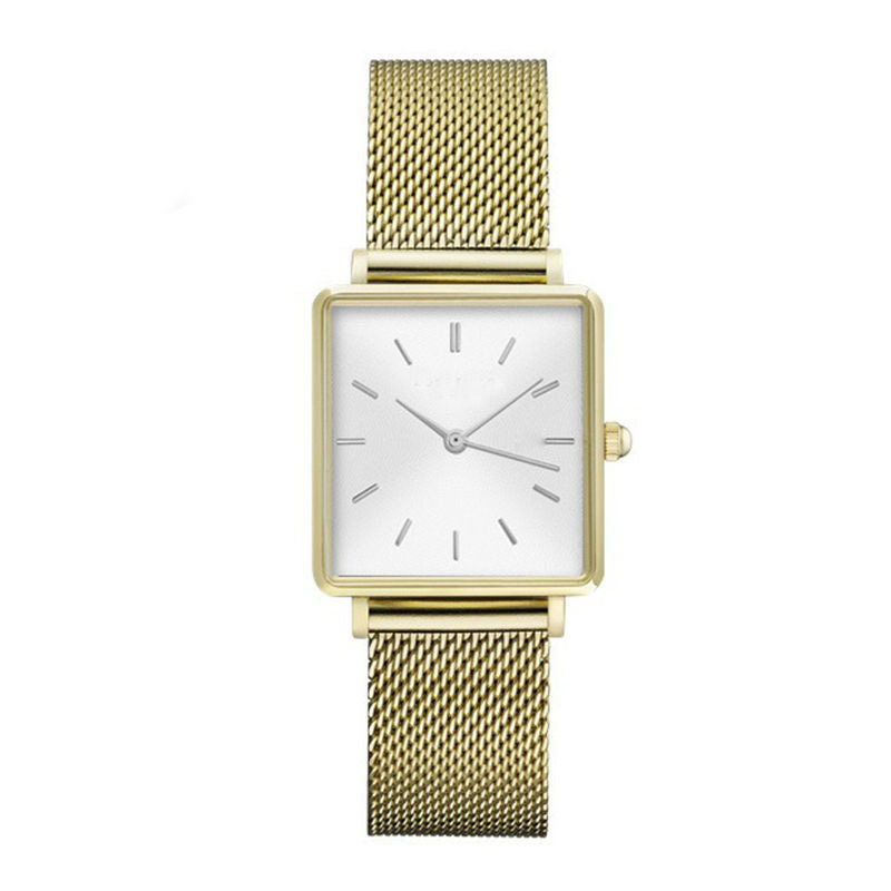 New Square Stainless Steel Women Watch Casual Dial Simple Ladies Wristwatches Quartz Sport Girls Clock For Gifts Reloj Femenino