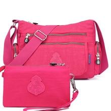 Las mujeres de mensajero bolsas de Nylon impermeable bolso y monedero mujer bolso de hombro señoras bolso bolsa sac principal