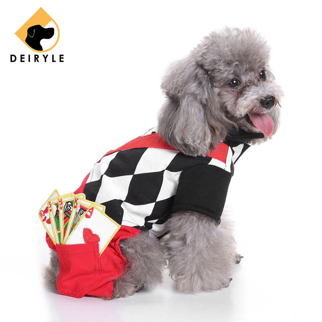 Dog Clothes Autumn Winter Pets Costume Christmas Clothes Hoodie Magician  Playing Card Decoration Jumpsuits Rompers for - Dog Clothes Autumn Winter Pets Costume Christmas Clothes Hoodie