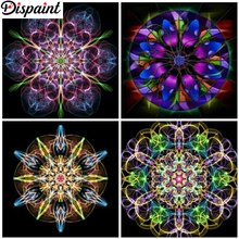 Dispaint Full Square/Round Drill 5D DIY Diamond Painting Mandala flower 3D Embroidery Cross Stitch 5D Home Decor Gift цена