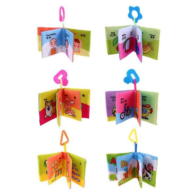 Juguetes de bebé suave paño libros Rustle sonido infantil cochecito educativo sonajero juguete cuna recién nacido juguetes de bebé Aprendizaje Temprano
