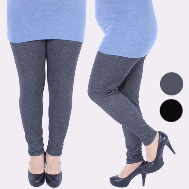 1ab8f417d3a11a NEW Korean Autumn winter XXXL X-large size for sexy fat elastic cotton  thicken soft 3 colors Show thin women all-match leggings