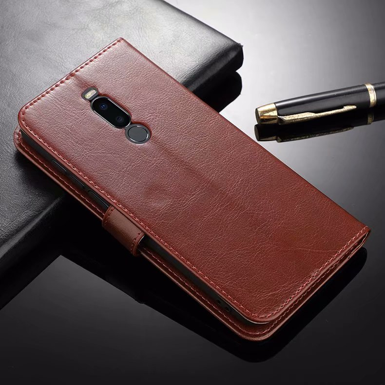 For Meizu X8 Case Premium PU Leather Wallet Leather Flip Case For Meizu X8 X 8 M852Q 6.2inch Couqe Cover