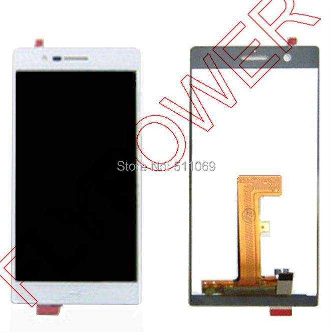 ФОТО For Huawei Ascend P7 LCD Screen Digitizer with Touch Screen Digitizer Assembly by free shipping; white color; HQ