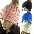 Hot  Women Warm Braided Crochet Knitting Winter Hat Girl Beret Ski Beanie Ball Cap Retail/Wholesale  5BPV 7ENY
