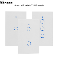Sonoff T1 US AU Smart Wifi Wall Touch Light Switch 1 2 3 Gang Touch WiFi