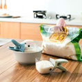 Household 2 in 1 Creative Duck Shape Plastic Shovel Handled Spoon + Bag Clip Food Sealing Clip Kitchen Accessories