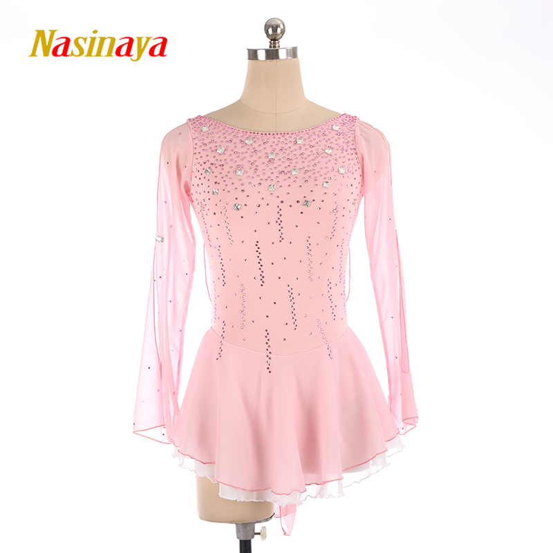 Nasinaya Figure Skating Dress Customized Competition Ice Skating Skirt for Girl Women Kids Patinaje Gymnastics Performance 4 in Gymnastics from Sports Entertainment