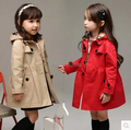 Girls long coat thick quilted winter coat 2015 spring new Korean version of simple and stylish children's clothing cotton jacket