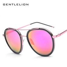 New 2017 color vintage shades gafas de sol mujeres hombres ronda de gafas de sol recubrimiento sunglass gafas de sol gafas feminino 819