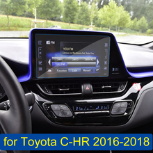 Car GPS Navigation Screen Tempered Glass Steel Protective Film for Toyota C-HR CHR 2016 2017 2018 Control of LCD Screen Sticker car tempered glass screen protective film sticker gps multimedia lcd guard for vw volkswagen 2017 2018 tiguan mk2 accessories