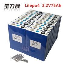 2019 NEW 16PCS 3.2V 75Ah lifepo4 battery Prismatic CELL 12V80Ah for EV RV pack diy solar UK EU US TAX FREE UPS or FedEx