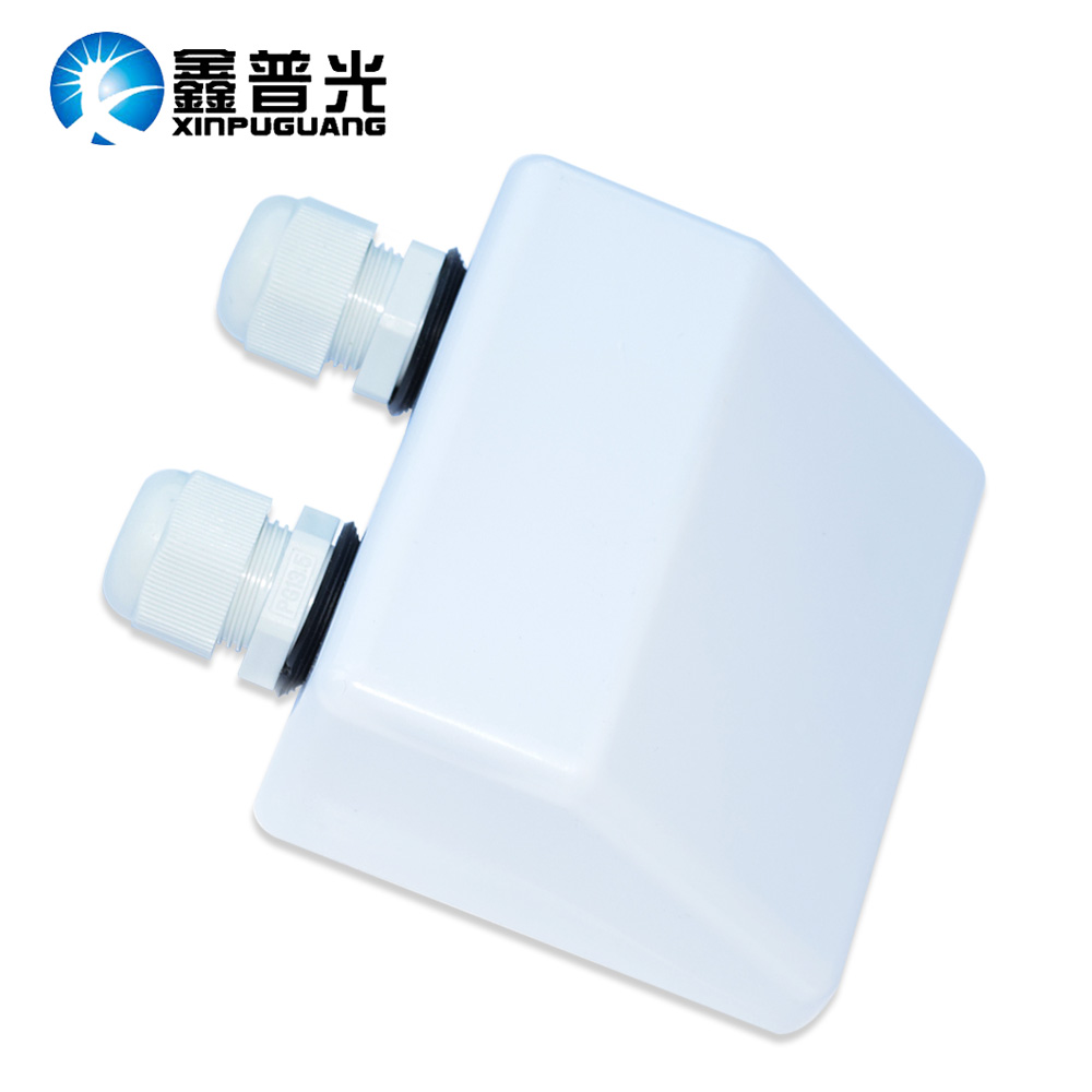 BOGUANG Weatherproof ABS Solar Double Cable Entry Gland,Curved Cable Connector For All Cable Types for Rv, Campervan, Boat