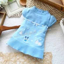 2014 новый девушки мода свитер девочки с коротким рукавом свитера для осень-зима детские clothiing dr0006-120