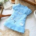 2014 nova moda camisola da menina das crianças do sexo feminino curto-luva camisolas para outono-verão infantil clothiing dr0006-120