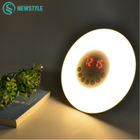 Sunrise Wake Up Light With Natural Sound And FM Radio Sleeping Light Bedroom Lamp With Digital