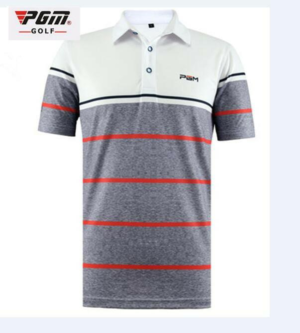 PGM High Quality Golf Mens T-shirt Golf Clothing Quick Dry Breathable Authentic Polo Shirt Short Sleeve Summer Sports Tshirt