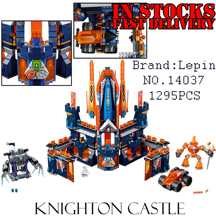 1295PCS LEPIN NEXUS Knights Knighton Castle EXO Anime Figure Building Blocks Bricks DIY Toys For Children 14037 Compatible 70357 lepin 14004 knights beast master chaos chariot building bricks blocks set kids toys compatible 70314 nexus knights 334pcs set