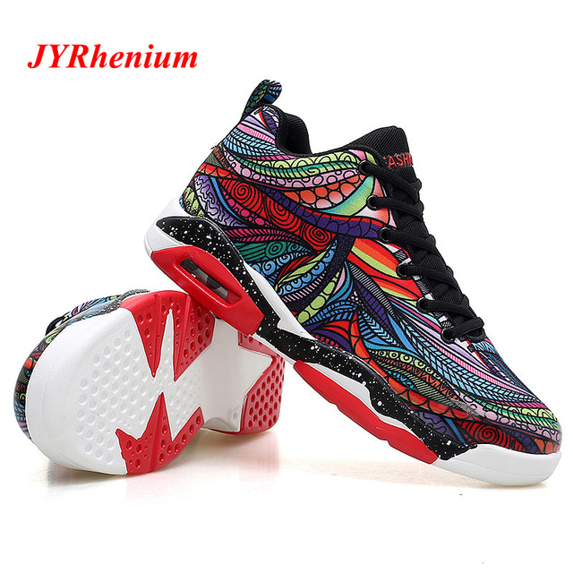 new styles 32265 ce300 JYRhenium 35-47 Mens Basketball Shoes Couple Breathable Retro Sneakers  Women Authentic Zapatillas Hombre Deportiva