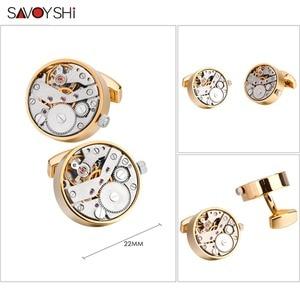 Image 3 - SAVOYSHI boutons de manchette pour montre mécanique, boutons de manchette, pour chemise, fonction, mécanisme, bijoux de marque de styliste