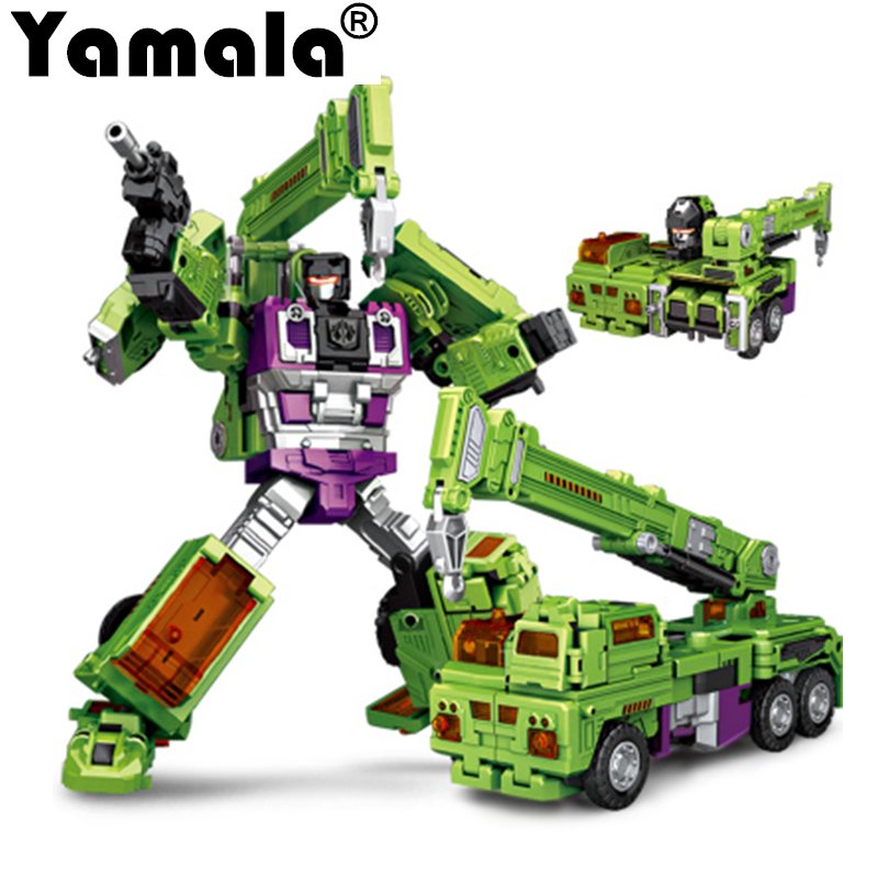[Yamala] New NBKs 1-6 Transformation Robot Ko  Devastator Figure Toy Right Thigh Action Figure Toys Christmas Gifts dinosaur transformation plastic robot car action figure fighting vehicle with sound and led light toy model gifts for boy