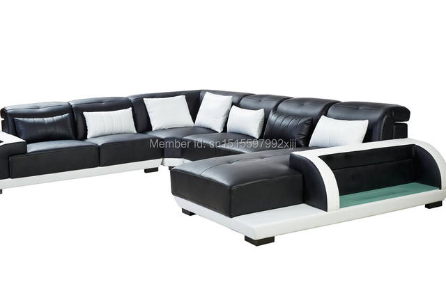 Beanbag Sectional Sofa Chaise In Muebles Bean Bag Chair Modern Design Leather Home Furniture Iiving Room Set